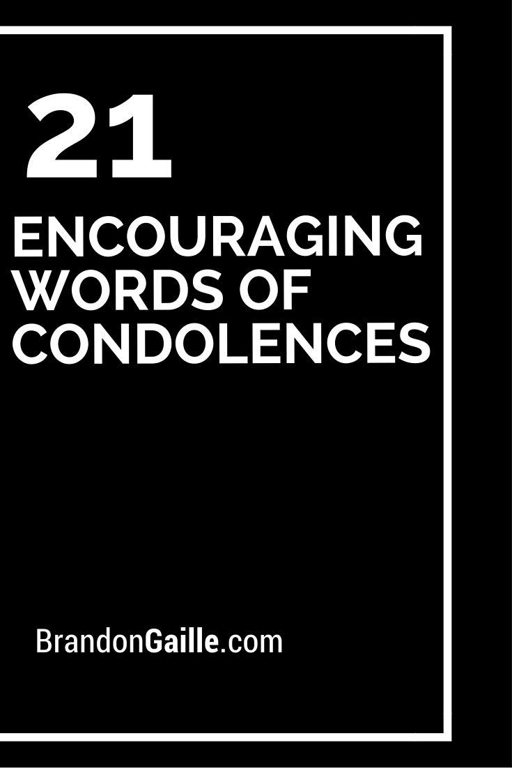21 Encouraging Words of Condolences