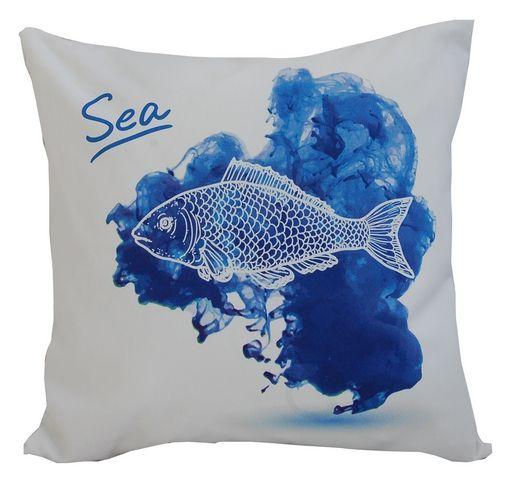 poszewka marine watercolor-ryba
