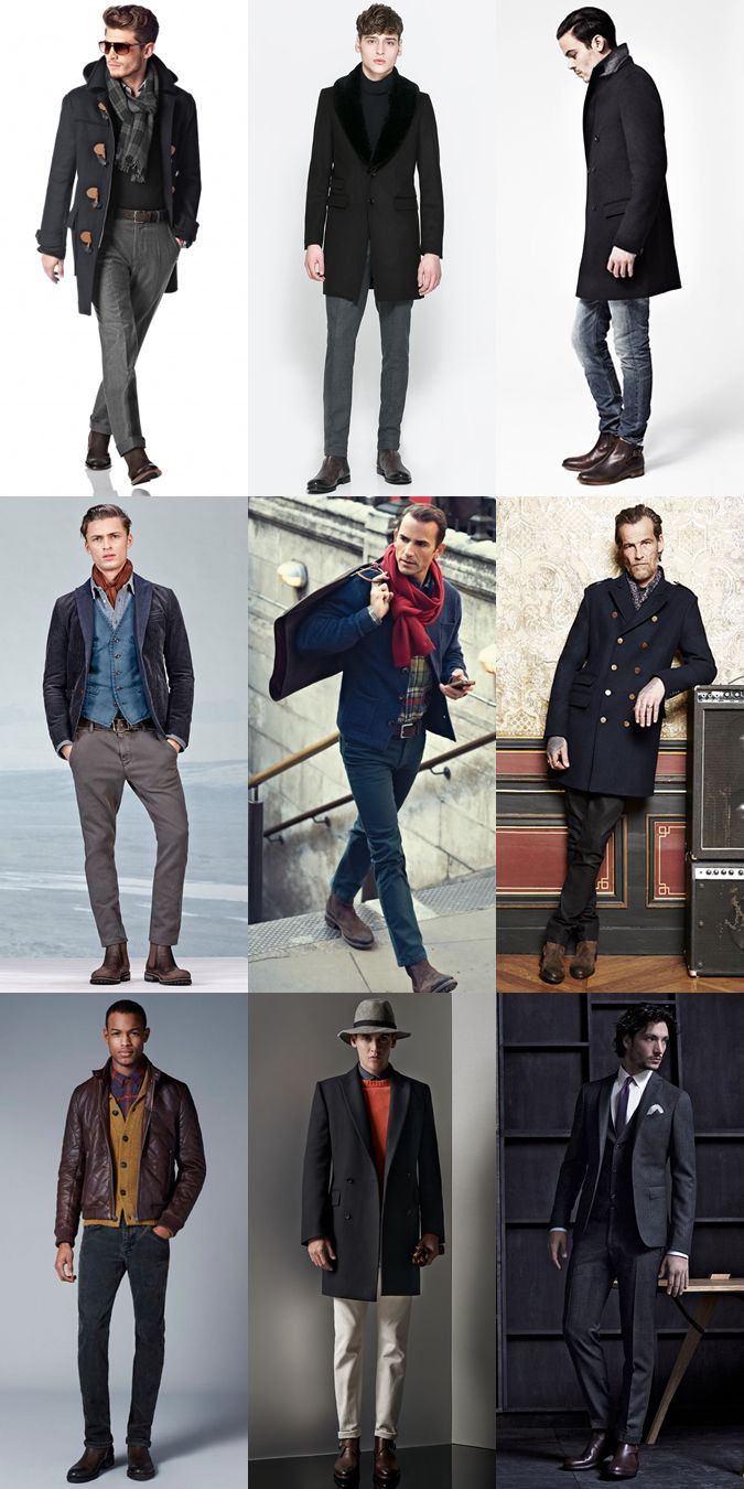 Men's Brown Leather Chelsea Boots Outfit Inspiration Lookbook