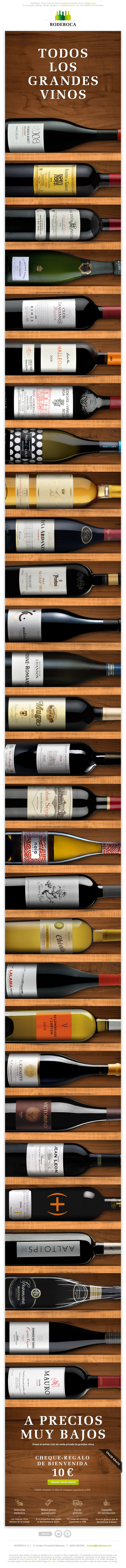 http://www.bodeboca.com/user/register Newsletter diseñado para BODEBOCA, el primer club de venta privada de grandes vinos. #email #marketing #newsletter #design