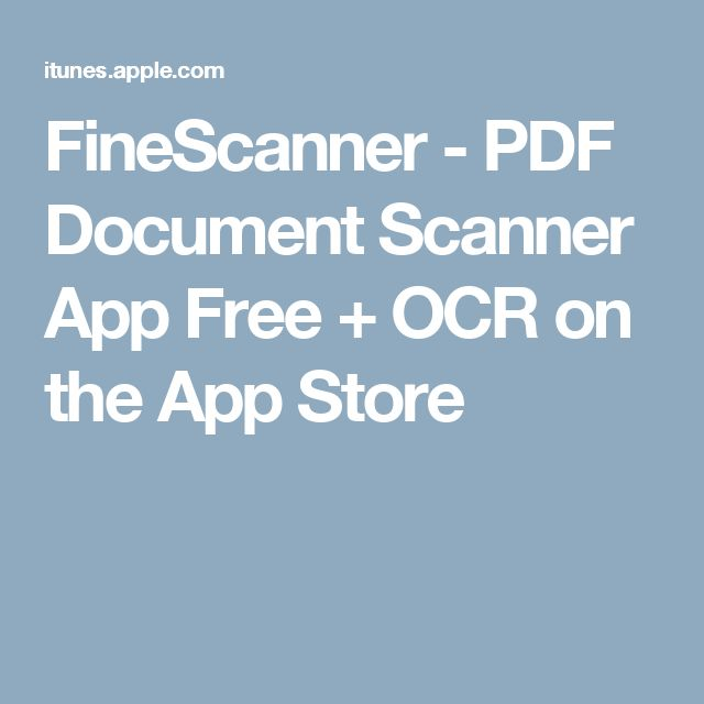 FineScanner - PDF Document Scanner App Free + OCR on the App Store
