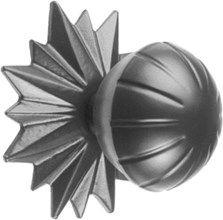 Deurknop 782 -  zwart  / knop Doorsnede58 mm - rozet Doorsnede90 mm