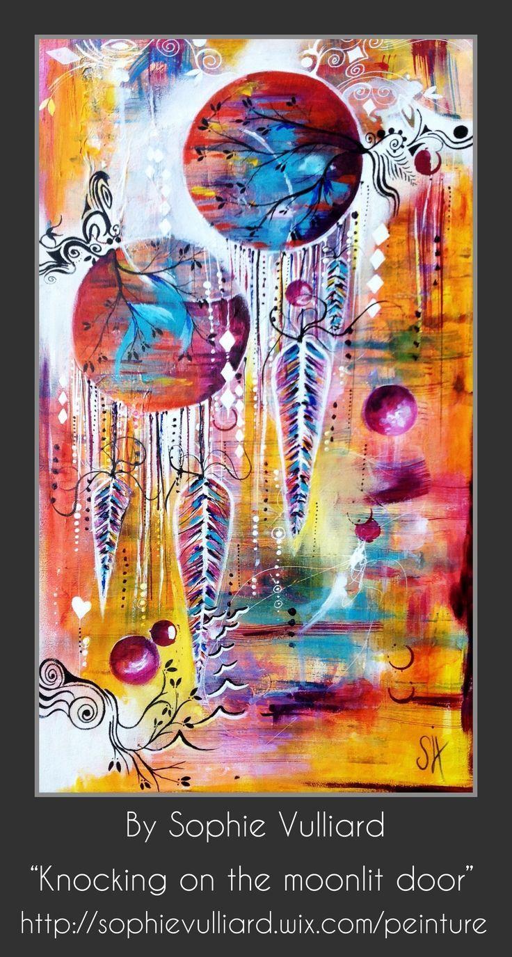 Intuitive Painting Acrylic Peintureacrylique Peinture