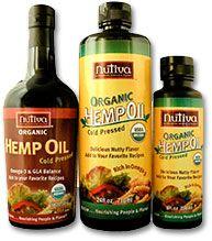 nutiva.com - #Hemp #Oil Benefits:  * delicious nutty flavor,   * rich source of Omega-3 and Vitamin E,   * cold-pressed,   * no hexane