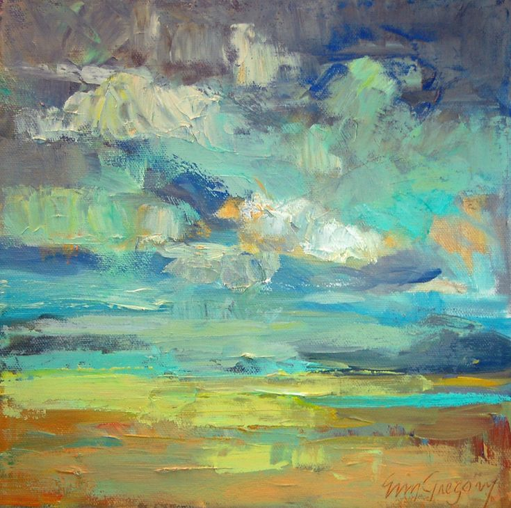 17 best ideas about abstract landscape painting on for Modern oil painting ideas