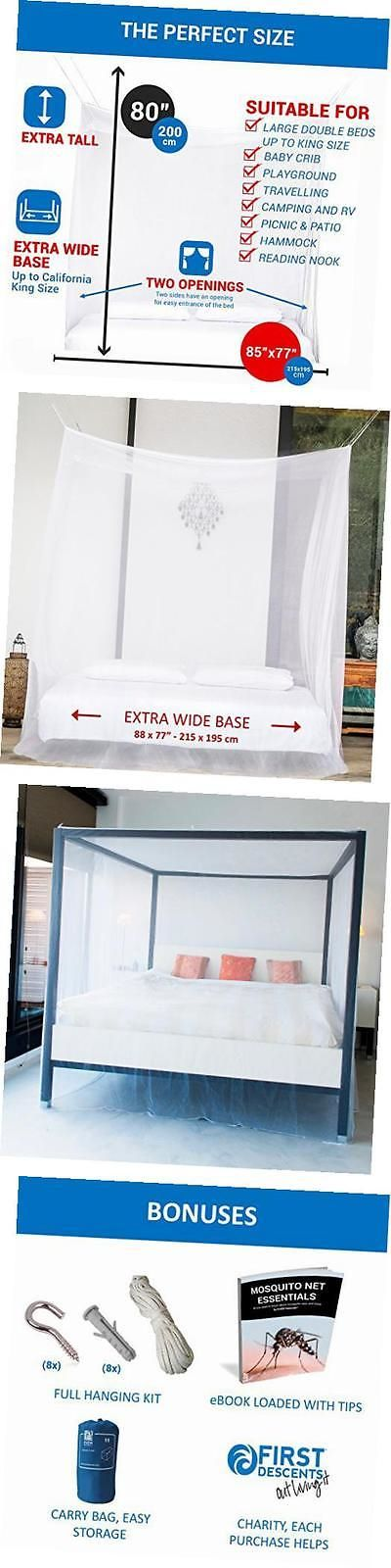 Canopies and Netting 48090: Premium Mosquito Net For Extra Large Canopy Bed By , Two Openings, Hanging Kit, -> BUY IT NOW ONLY: $30.54 on eBay!