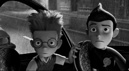 Meet the Robinsons. Lewis and Wilbur watch Lewis' mother at the orphanage.