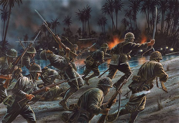 """Esercito Imperiale Nipponico - """"Battle of Tenaru, one of the first major actions of the Guadalcanal campaign"""" Peter Dennis"""