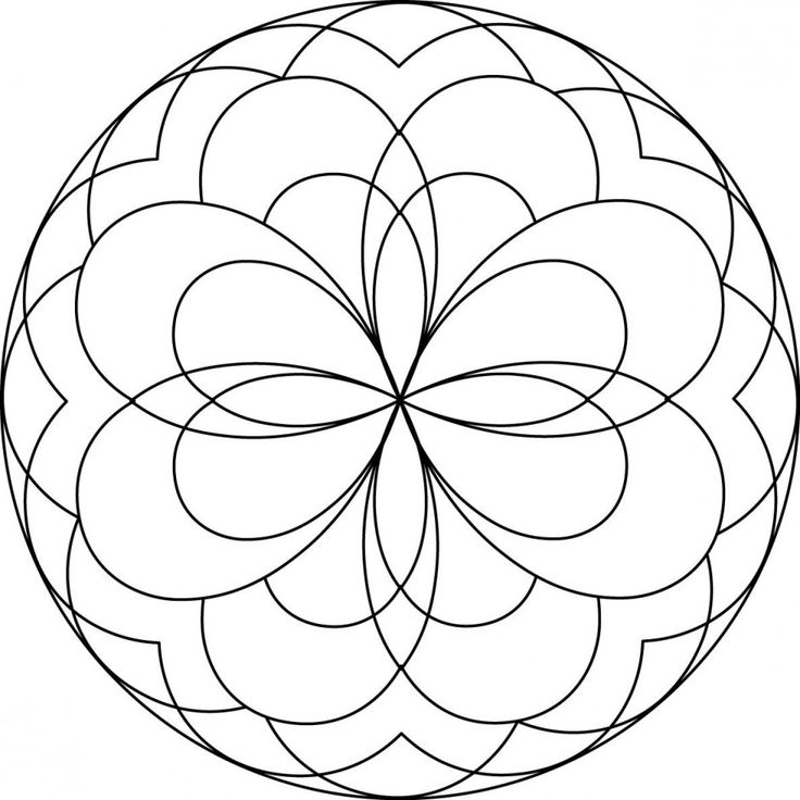 easy mandala coloring pages coloring pages pictures imagixs