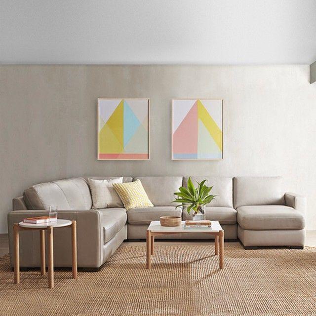 Signature leather modular sofa