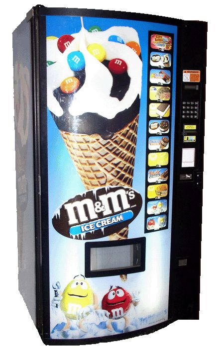 If the aforementioned variants appear to be a little bit high-end for you, you may find vending machines that vend candy, chocolate, gumballs, peanuts, and other small items. Description from us-machine.com. I searched for this on bing.com/images