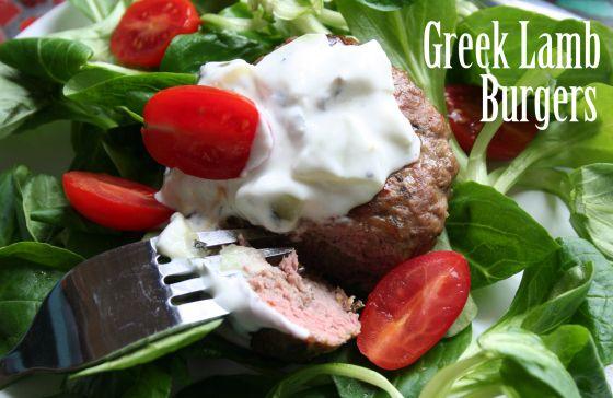 Greek Lamb Burger | Recipes | Pinterest