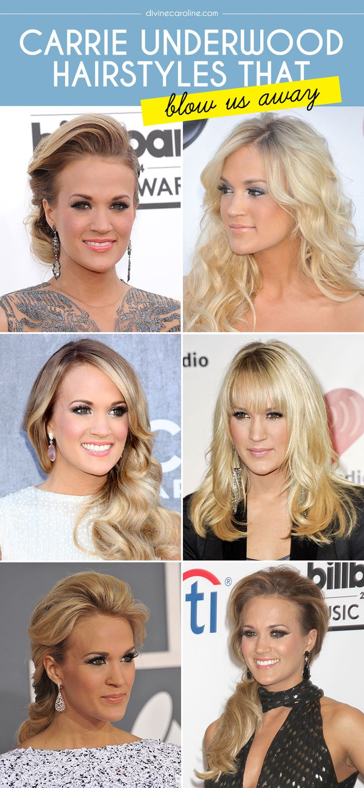 Carrie Underwood's 15 best hair moments. #Hairstyles #CelebStyle