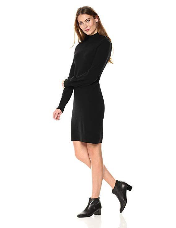 cd34cf55823 Lark   Ro Women s 100% Cashmere Soft 12-Gauge Turtleneck Sweater Dress-Sweater  Dresses
