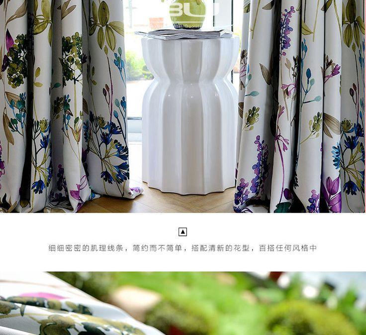 Новое Прибытие Корея Свежий Стиль Фиолетовые Цветы Печатных Занавес Полиэстер Blockout Ткани Для Штор для Гостиной купить на AliExpress