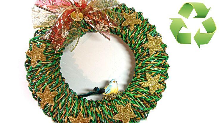 155 best v deos de manualidades varias images on pinterest - Como hacer coronas de navidad ...