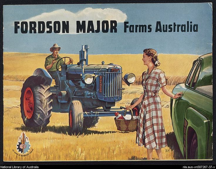 The National library of Australia has a vast collection of ephemera. This is a classic image of Australian ephemera.