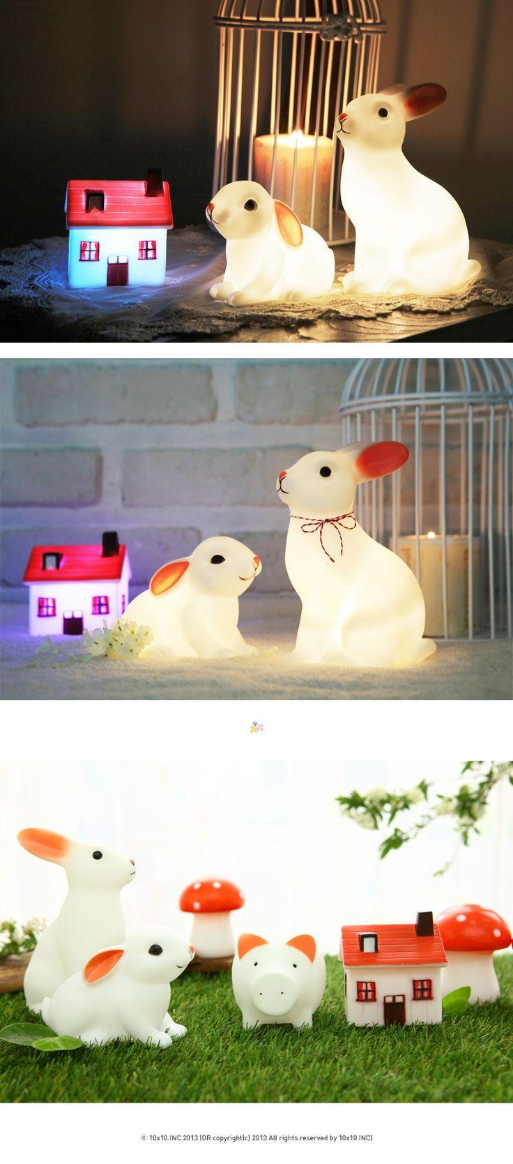 텐바이텐 10X10 : rabbit led lamp 3 SET (LED 조명램프 세트)