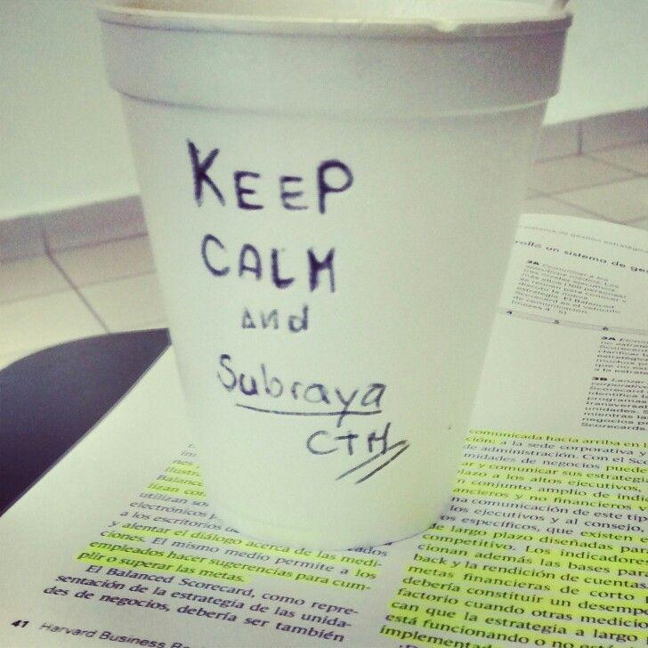 #KeepCalm #And #Subraya {ocio en clase}