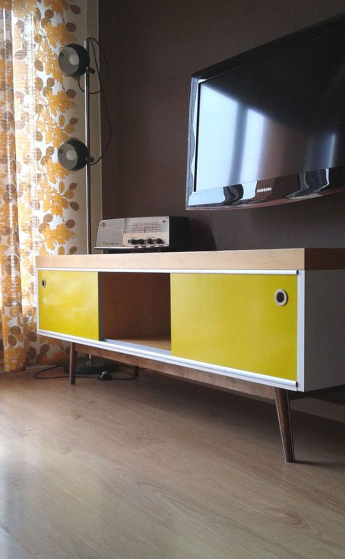 Turn an old LACK TV stand model into a Scandinavian mid-century-style sideboard.