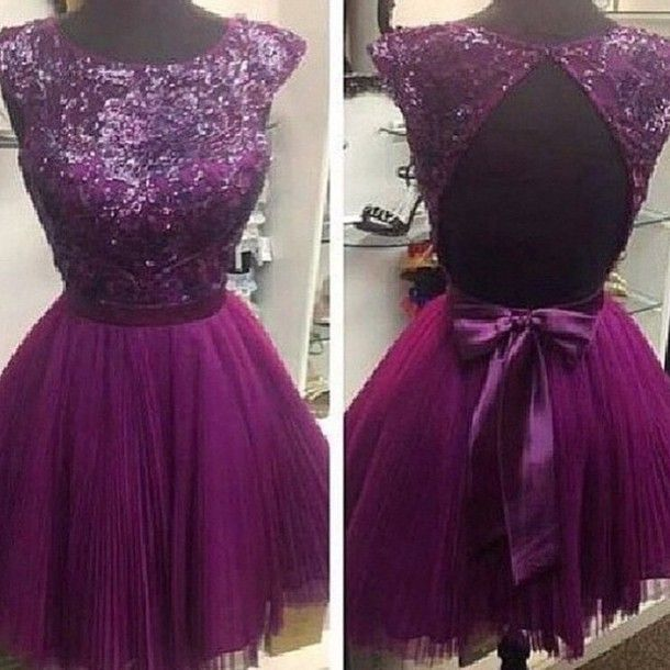 Charming Homecoming Dress, Beading Homecoming Dress O-Neck Short Prom Dress