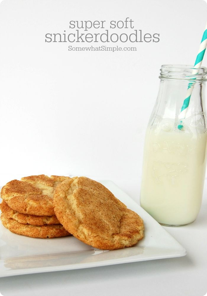 Soft Snickerdoodle Cookies recipe! Can't wait to try them!
