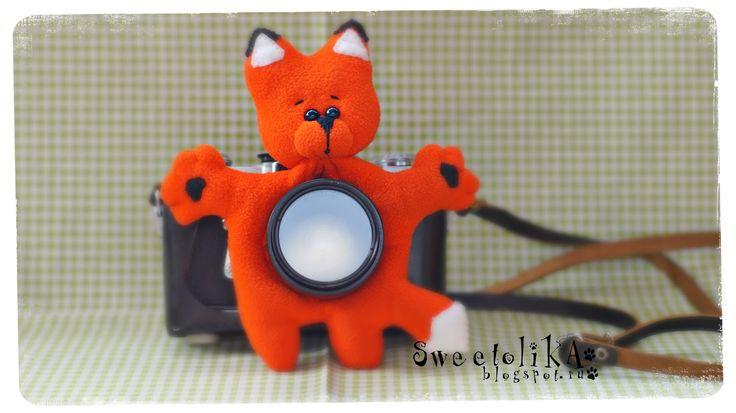 Fox toy for camera. Toy fox. Toy for camera lens. Игрушка на объектив
