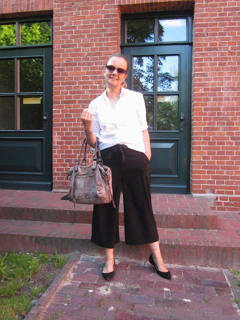 Fashion translated: Outfit: Minimalist at heart how to wear culottes