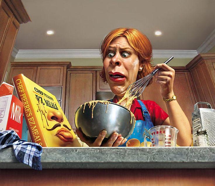 Днем рождения, женщина на кухне смешные картинки