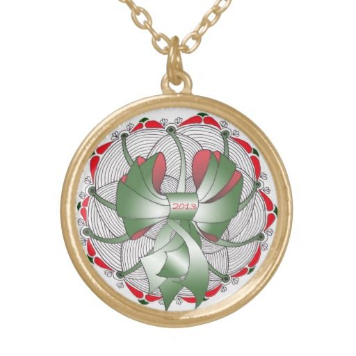 2013 Christmas Holiday Necklace in Gold & Silver