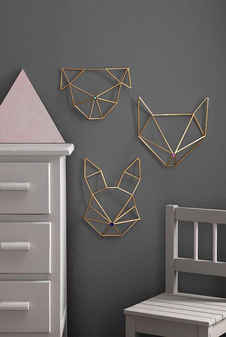 Décoration murale moderne – la géométrie rencontre le métal sur Pinterest