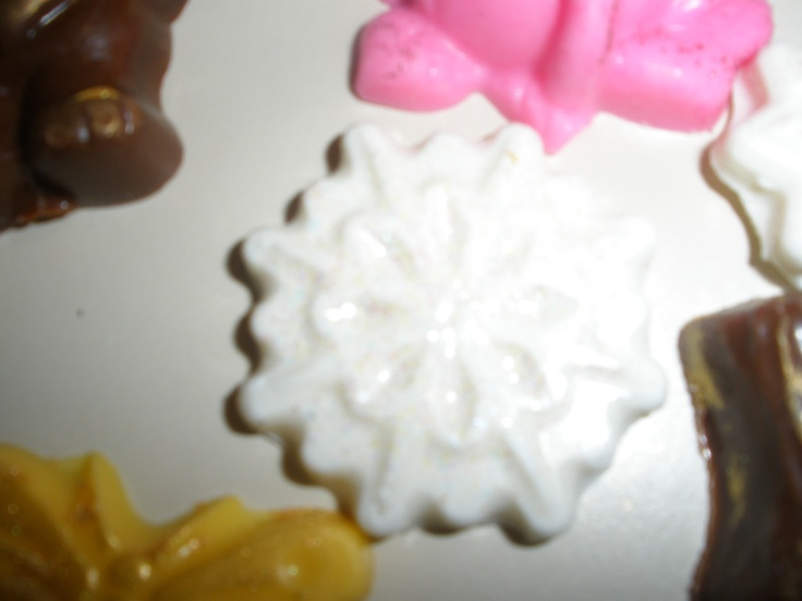 Pearlized chocolate snowflake.  Pearlizing doesn't show up well.
