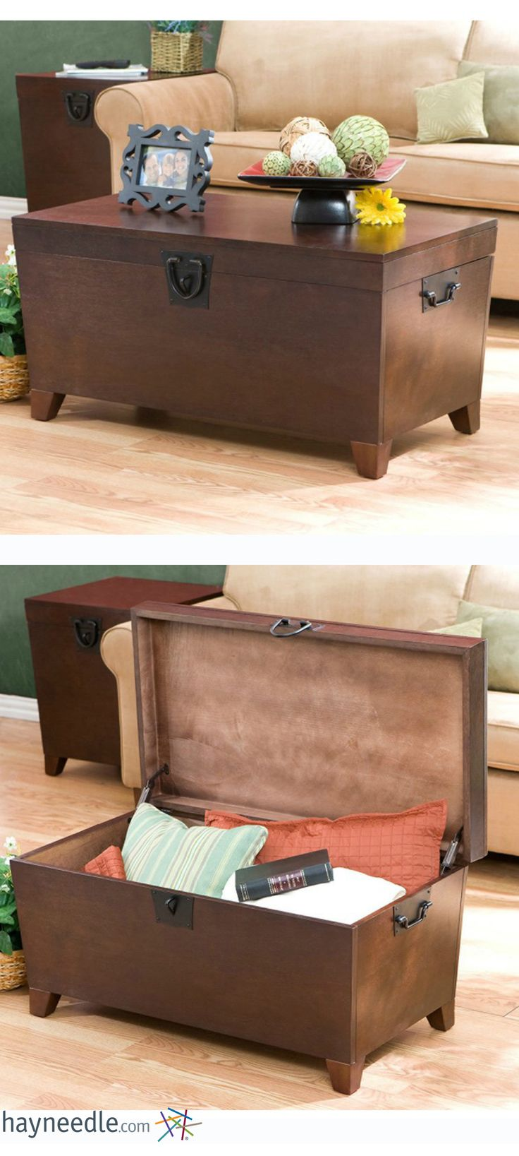 Use this coffee table as an elegant piece of furniture, or use it as storage in your home.