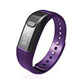 Fitness Tracker Wireless Activity Wristband,Shonco I5S Waterproof Bluetooth Activity Tracker Smart Band Bracelet with Sports Pedometer Health Sleep Monitor Calories Counter for iPhone Android Phones - Purple - https://www.trolleytrends.com/?p=510867