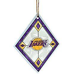 Los Angeles Christmas Ornament NBA Los Angeles Lakers Art Glass Ornament