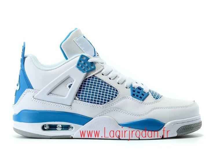 Nike Air Jordan 4 Retro Chaussures Officiel Pas cher Pour Homme Military  Blue 2016 836015-