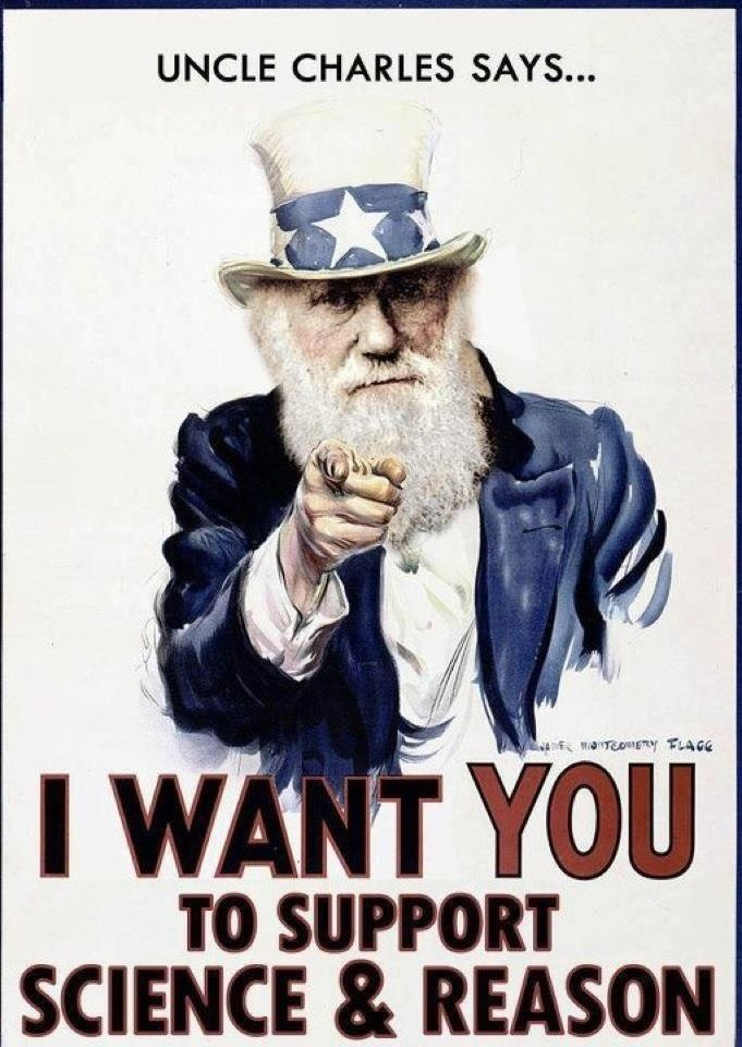 I want you to support science and reason!
