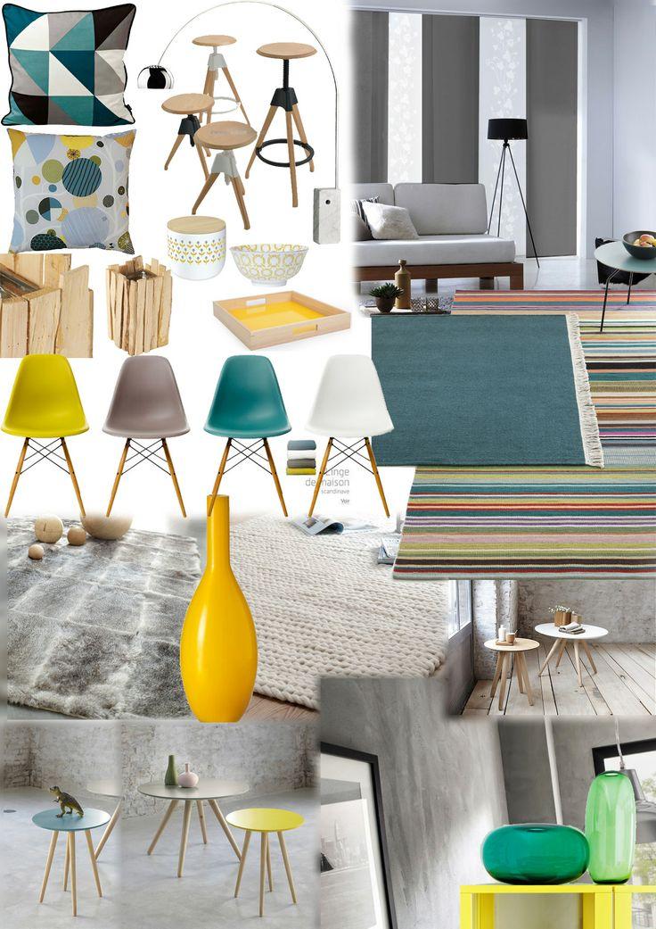 Planche tendance, style scandinave. J'aime le style et les couleurs!