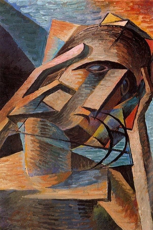 Bohumil Kubišta - Meditation #painting #art #Czechia #CzechArt #cubism