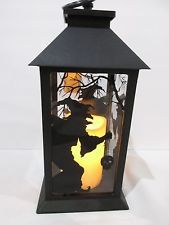 Halloween LED Light Witch Black Lantern Candle With Timer Decoration Decor