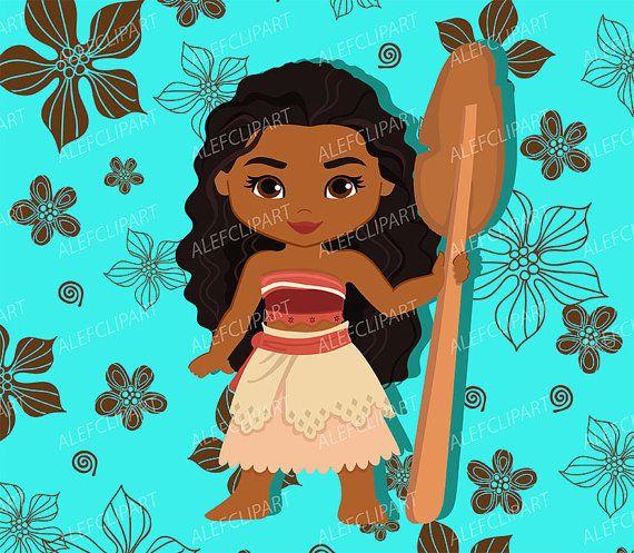 50% OFF SALE Moana Clipart Disney Moana Princess Moana
