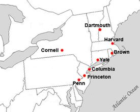 ivy league school locations -