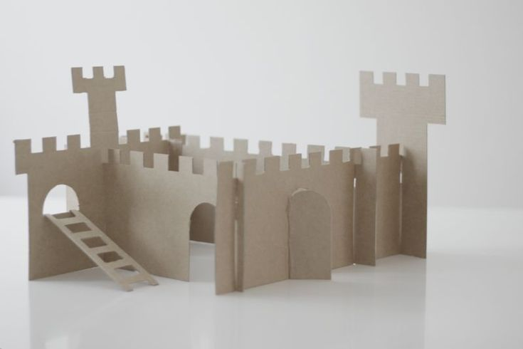 Cardboard castle. Might tweak this and figure out how to make it into a shapes math lesson during the fairy tale unit.
