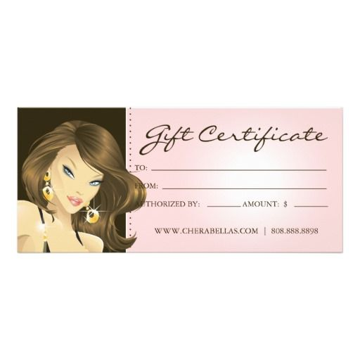 Best 25 gift certificate templates ideas on pinterest for Free printable hair salon gift certificate template