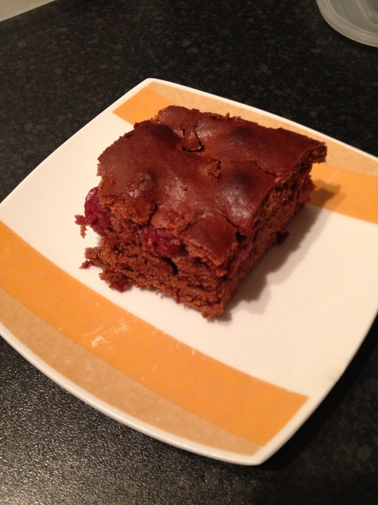Chocolate & cherry cake home baking :)