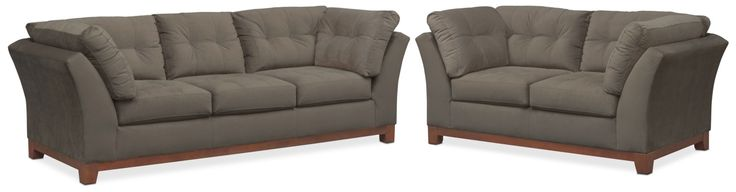 Sebring Sofa And Loveseat Set - Gray