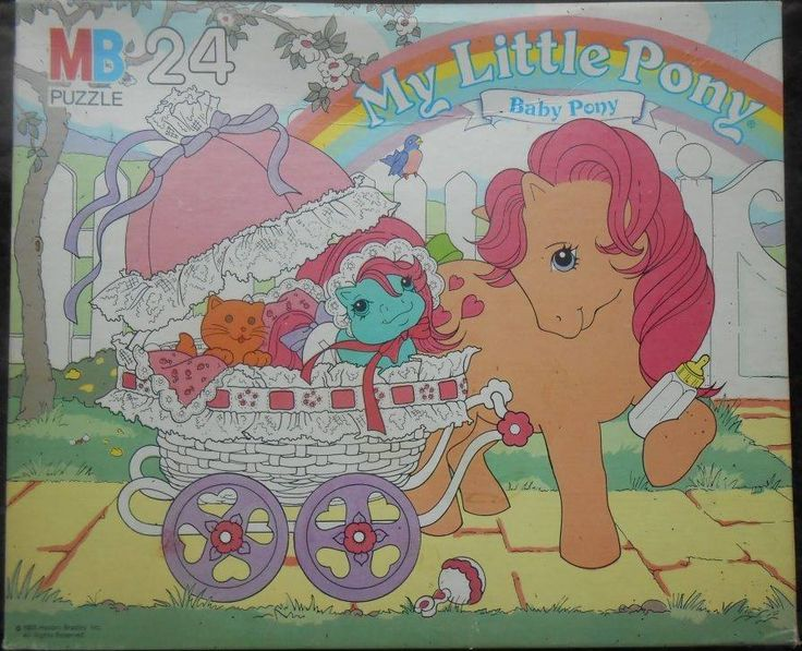 my little pony G1 puzzle baby cuddles and peachy