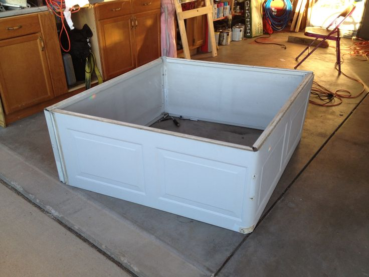 This Is A Raised Garden Bed From A Recycled Garage Door