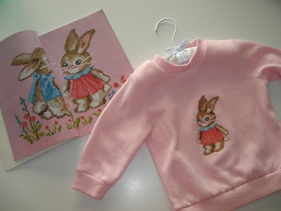Quick tute: How to stitch something cute and cuddly on to a sweater.