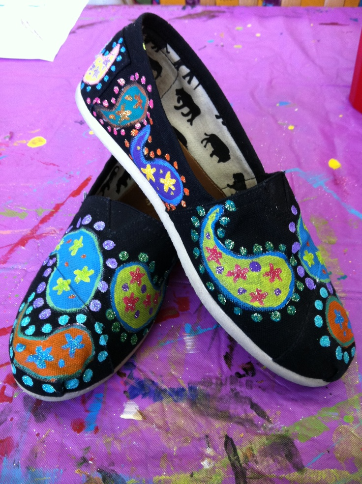 Hand painted toms. Check out more designs and how to order on my ...